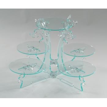 Présentoir cristal 5 plateaux