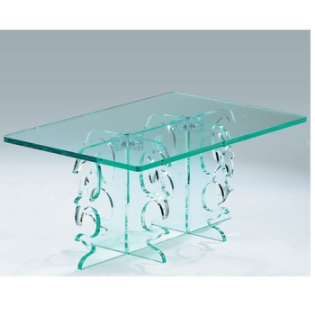 Guéridon cristal rectangulaire