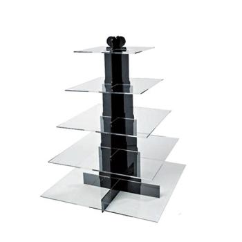 Présentoir plastique plateaux carrés -