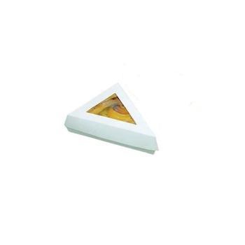 Boîtes pâtissières triangulaires blanches
