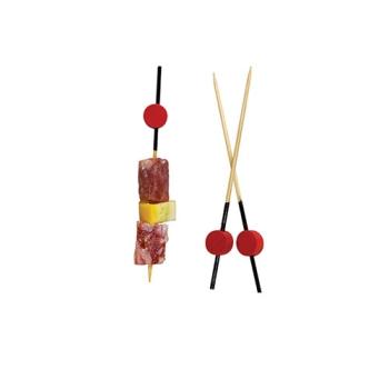 Pique bambou noir et tête rouge