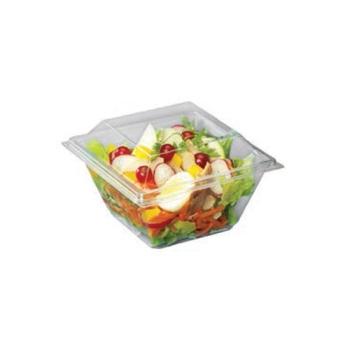 Pot carré à couvercle séparé - Fond et couvercle cristal