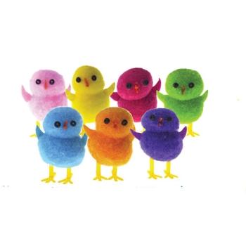 Mini poussin coloris assortis
