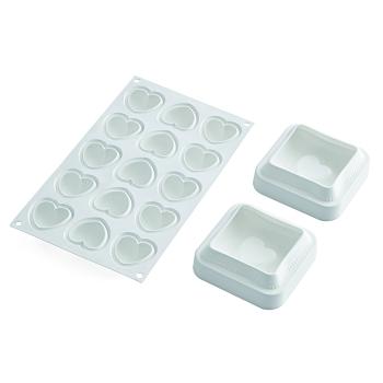 """Moule en silicone - Kit """"coussin coeur"""" (TI VOGLIO BENE) - 7x270 ml / 15x30 ml"""