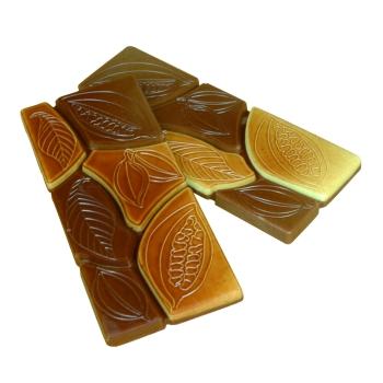 """6 Tablettes -  """" Texture de cacao"""" - Poids 30 g"""