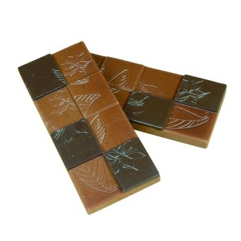 """6 Tablettes """" Fleur de cacao """"- Poids 50 g ( 8 x 2 )"""