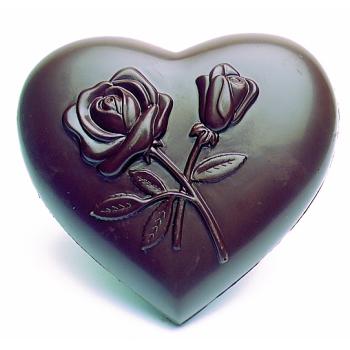 Coeur décoré fleurs - 4 empreintes