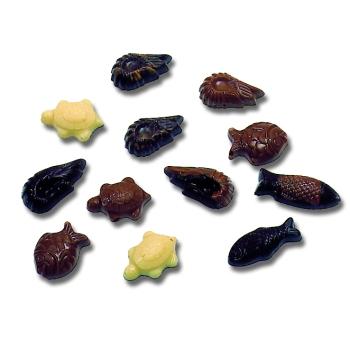 Assortiment  -35  empreintes - 4.5 g - Poissons, crevettes et tortues