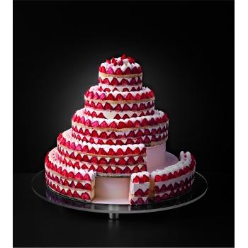 Wedding Cake Rond - pièce détachée - Jeu de 3 tiers de cercles inox ø 460 mm