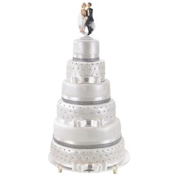 Ossature inox 3 plateaux pour Wedding Cake