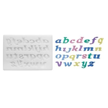 Empreinte silicone  - Alphabet minuscule (modèle 2)