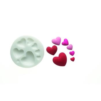 Empreinte silicone  - Coeurs