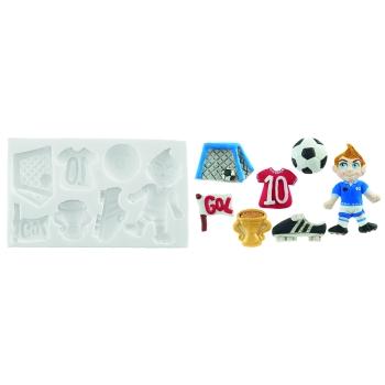 """Moule en silicone sugarflex - Plaque """"Football"""""""