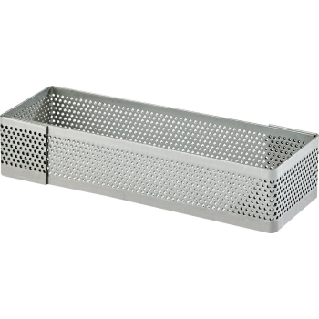 Rectangle inox perforé - Hauteur 2 cm
