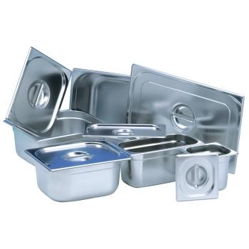 Bac gastronorme inox sans poignées 1/9 - 17.6 X 10.8 cm