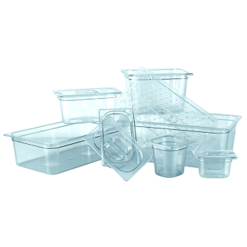 Bac gastronorme polycarbonate 1/9 - 17.6 X 10.8 cm