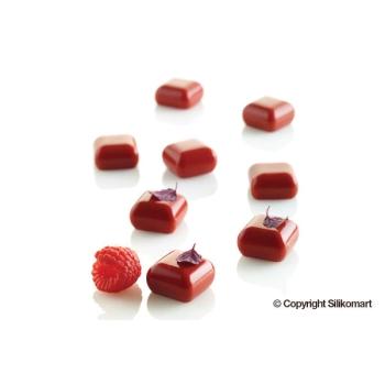 """Moule en silicone - 35 micro carrés bombés """"MICRO GEM"""" x 5 ml - En collaboration avec Luca Montersino"""