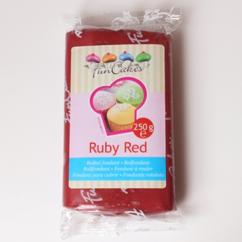 FunCakes Fondant Rouge -Ruby Red-  Halal / Casher
