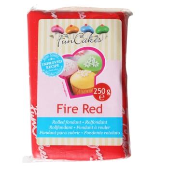 FunCakes Fondant Fire Red Halal / Casher