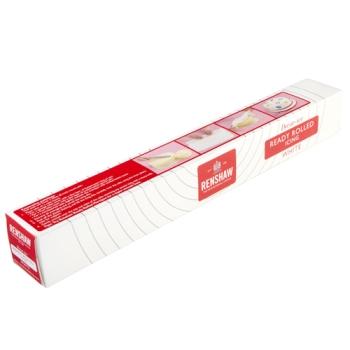 Pâte à sucre blanche prête à être déroulée