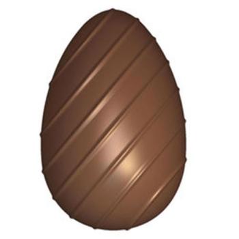 Moule oeuf strié pour chocolat