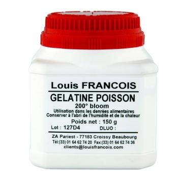 Gélatine de poisson 200 bloom en poudre - 150 g - Louis François