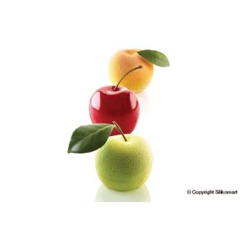 """Moule en silicone - fruits pomme pêche cerise """"MELA CILIEGIA & PESCA 115"""" - 5x115 ml"""