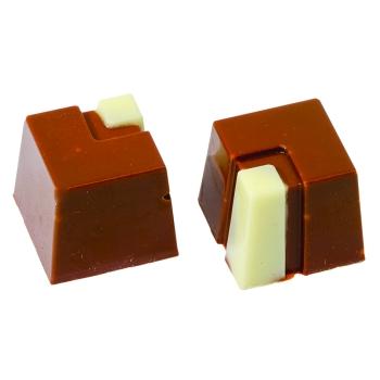 Moule polycarbonate chocolat - Bonbons carrés