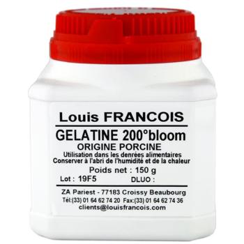 Gélatine Porcine en Poudre 200 Bloom - 150 g - Louis François