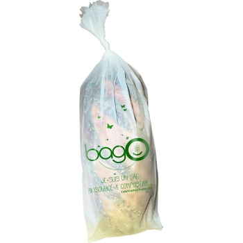 Sac biosourcé compostable, liassé, perforé