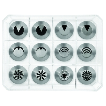 """Douilles spéciales """"décors fleurs"""" - boite de 12 douilles assorties (Modèle 2)"""
