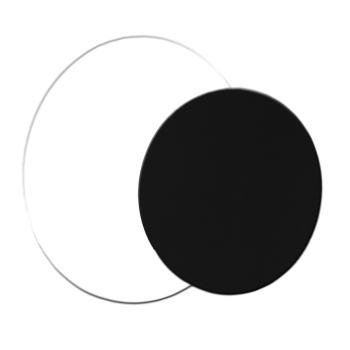 Rond uni Blanc/Noir
