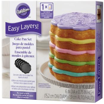 Wilton - Ensemble de 5 moules à gâteau ondulés
