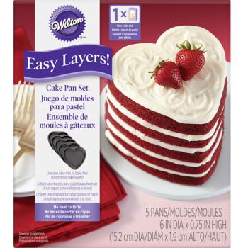 Wilton - Ensemble de 5 moules à gâteau coeur