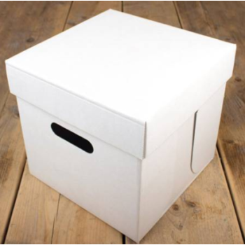 Cakebox Blanche -  25,5 x 25,5 x 25 cm - P/1