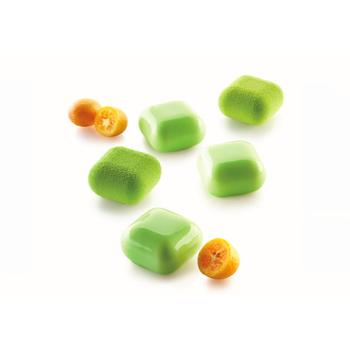 """Moule silicone - 15 carrés bombés """"GEM 30"""" - 15x30 ml"""