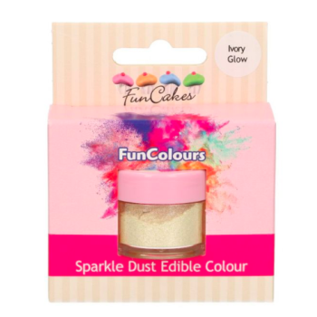 Poudre alimentaire FunColours Sparkle Dust - Ivoire Brillant -Ivory Glow- 1,5g - Halal