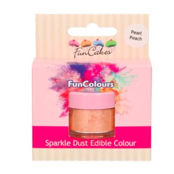 Poudre alimentaire FunColours Sparkle Dust - Pêche -Pearl Peach- 1,5g - Halal