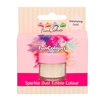 Poudre alimentaire FunColours Sparkle Dust - Or Chatoyant -Shimmering Gold- 1,5g - Halal