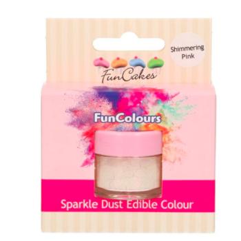 Poudre alimentaire FunColours Sparkle Dust - Rose Irisé-Shimering Pink- 1,5g - Halal