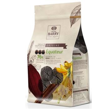 CHOCOLAT DE COUVERTURE NOIR ÉQUATEUR 76% - 1KG