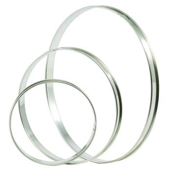 Cercle inox  à Tarte - 2 bords roulés