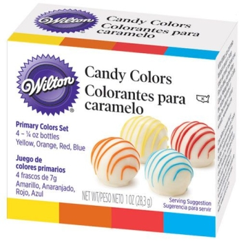 Coffret de 4 colorants alimentaires pour candy melts