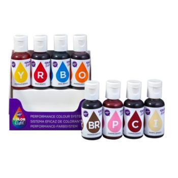 Boite de 8 Colorants Liquides Alimentaires - Wilton