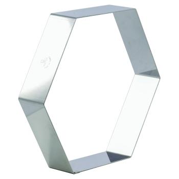 Forme à Entremets - Hexagone - Acier Inoxydable