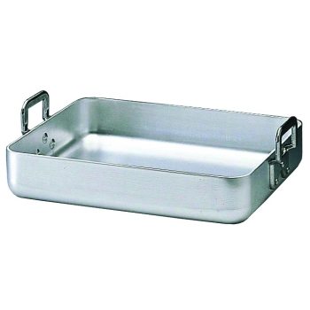 Plat à rôtir aluminium anses fixes rivetées