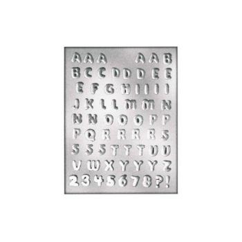 Plaque chocolat - Alphabet + Chiffres