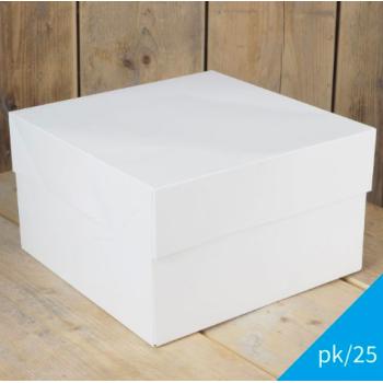 Cakebox Blanche  - 28x28x15 cm - par 5 ou 25 unités