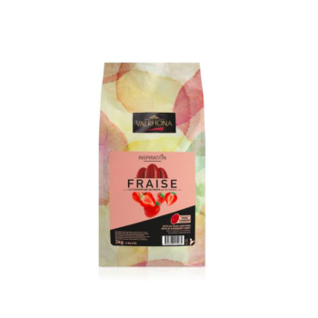 Chocolat inspiration fraise  Valrhona - 3Kg/ 1KG / 500 grammes / 250 grammes