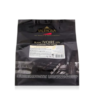 Chocolat Blanc Ivoire 35% - Valrhona : 1kg ou 500 grammes